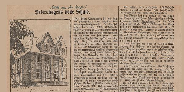 Petershagens neue Volksschule