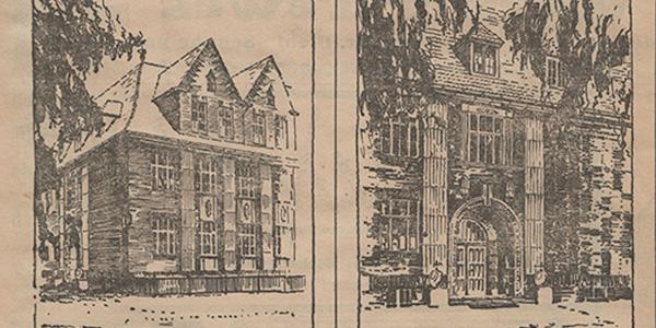 Die neue Volksschule in Petershagen