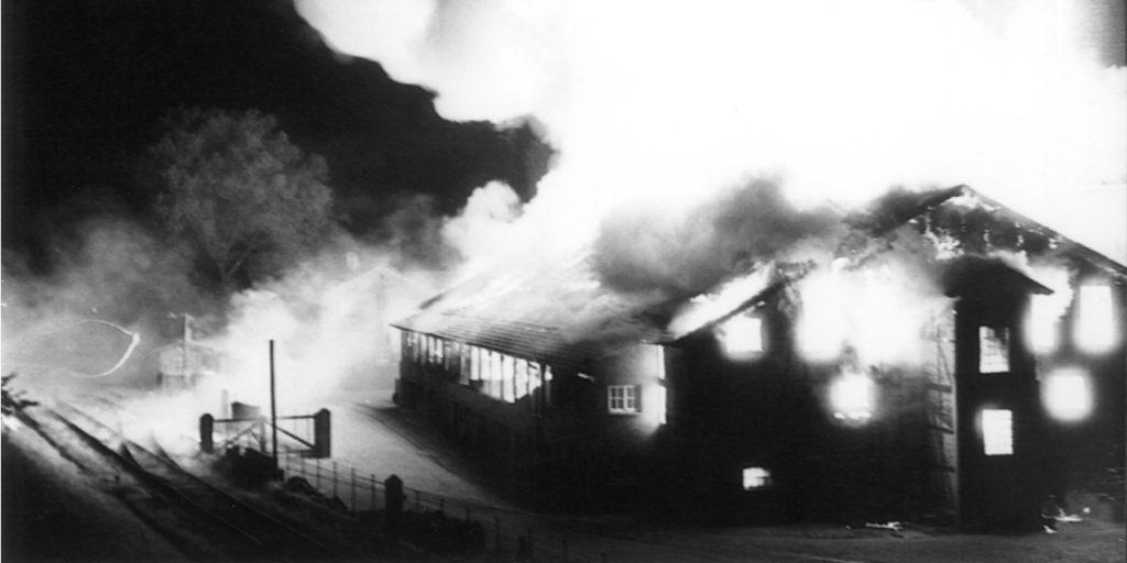 Großfeuer in der Tonindustrie Heisterholz