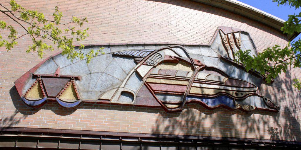 Kunst am Bau | Großrelief am Amtshaus