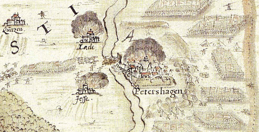Die Belagerung der Festung Petershagen