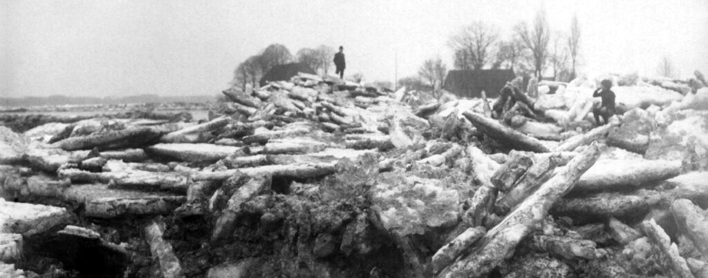 Der Eisgang am 23. Februar 1922