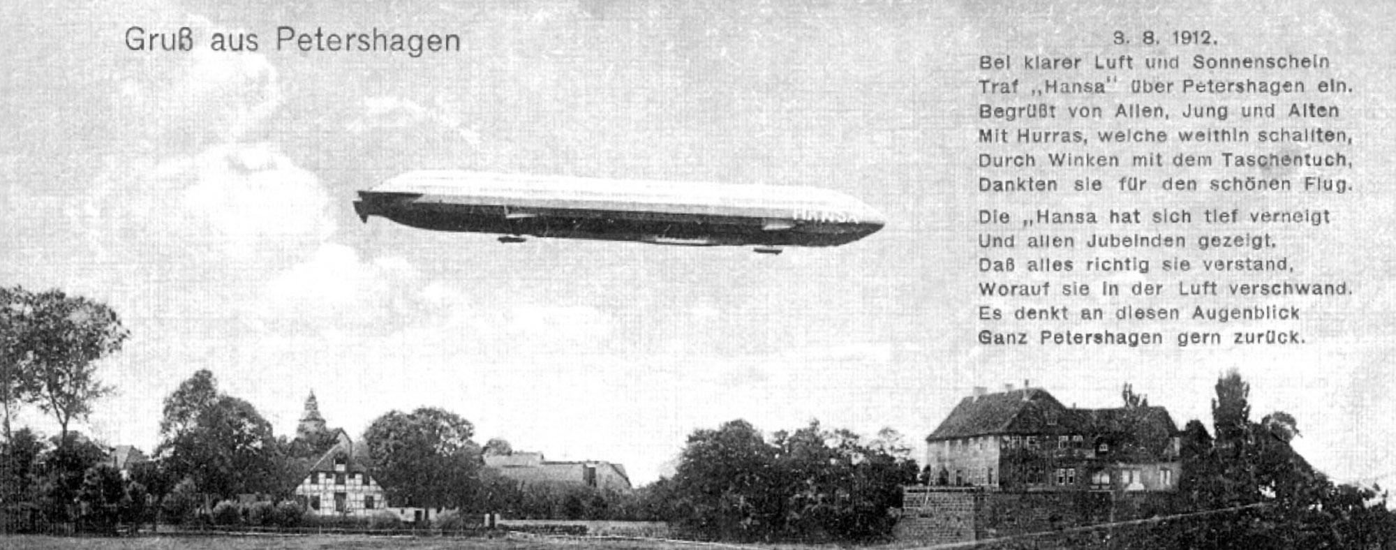 Zeppelin Hansa über Petershagen